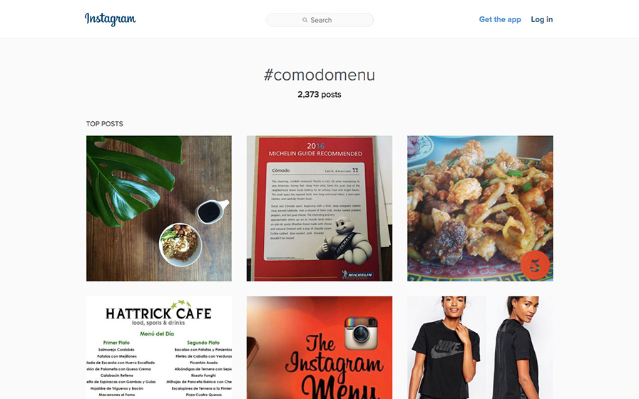 Comodo(コモド)のインスタグラムページ