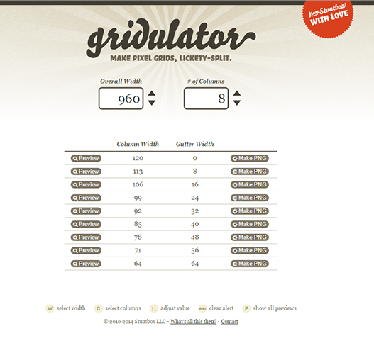 gridulatorのホームページ