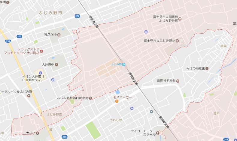 富士見市とふじみ野市の境界